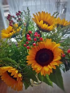 Sunflowers, like van gogh